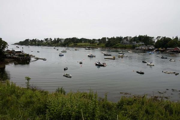A fishing village near Harpswell, Maine.