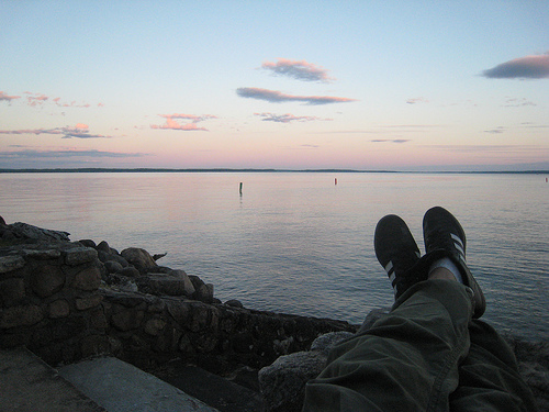 Sunset at Thompsons Point on Sebago Lake, Maine