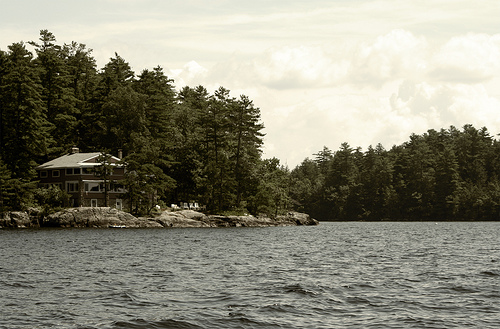 A rental lodge on Sebago Lake, Maine.
