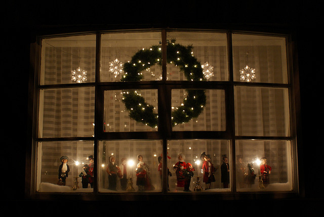 Battery Christmas Candles Windows